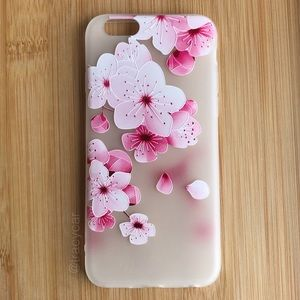 NEW Iphone 6/6s Pink Flowers Case